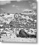 Windmill On A Hill Metal Print