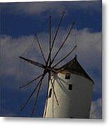 Windmill On Santorini Island  Metal Print