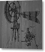 Windmill Patent Barn Wall Metal Print
