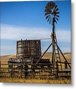 Windmill Water Pump Station Metal Print