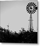 Windmills Now And Then Metal Print