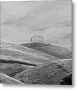 Windmills On The Hill Metal Print