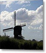 Windmills Silhouette Metal Print