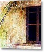 Window - Water Color - Fort Metal Print