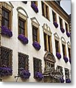Window Boxes In Germany Metal Print
