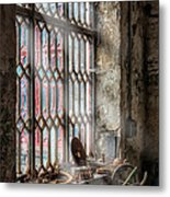 Window Decay Metal Print