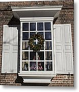 Window Decorations In Williamsburg Metal Print