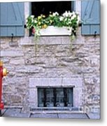 Window Flower Box 2 Metal Print