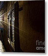 Window In An Alley With Sunlight Metal Print
