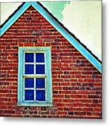 Window In Brick House Metal Print