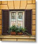 Window In Rome Metal Print