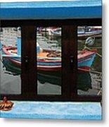 Window Into Greece 6 Metal Print
