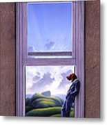 Window Of Dreams Metal Print by Jerry LoFaro