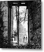 Window Of Haunted Abbey Metal Print