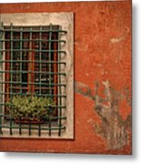 Window Of Vernazza Italy Dsc02633 Metal Print