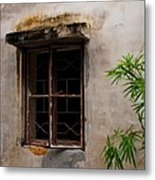 Window On Canvas Metal Print