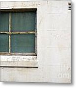 Window On Concrete Metal Print