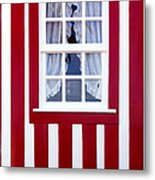Window On Stripes Metal Print by Carlos Caetano