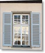 Window Opposite Palace Of The Solitude In Stuttgart - Germany Metal Print