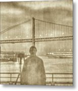window self-portrait Embarcadero San Francisco Metal Print