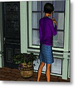 Window Shopper Metal Print