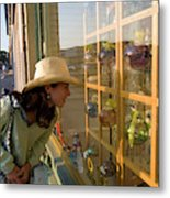 Window Shopping In Downtown Yarmouth Metal Print