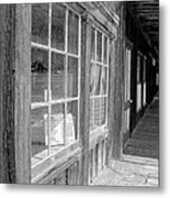 Window Shopping        Pencil Metal Print