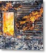 Window Thru The Depth Of Firey Fury Metal Print