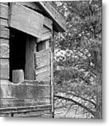 Window To Nowhere - Black And White Metal Print