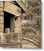 Window To Nowhere - Sepia Metal Print