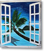 Window To Paradise Beach Metal Print
