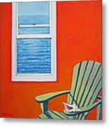 Window To The Sea No. 1 - Seashell Metal Print
