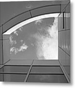 Window To The Sun - 4 - Bw Metal Print