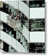 Window Washers Metal Print