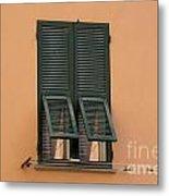Window With Shutter Metal Print