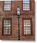 Windows And Brick Metal Print