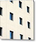 Windows In An Office Building Metal Print