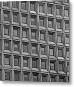 Windows In Black And White Metal Print