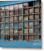 Windows In Blue Building 3 Metal Print
