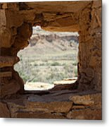 Windows In Chaco Metal Print