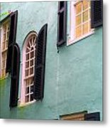 Windows In Charleston Metal Print