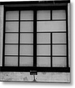 Windows Of Brooklyn In Black And White Metal Print