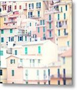 Windows Of Cinque Terre Italy Metal Print