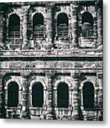 Windows Of The Porta Nigra Metal Print