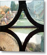 Windows Of Venice View From Art Academy Metal Print