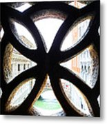 Windows Of Venice View From Palazzo Ducale Metal Print
