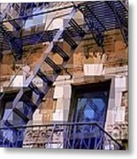 Windowscape 7 - Old Buildings Of New York City Metal Print