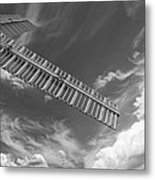 Winds Of Time Black And White Metal Print