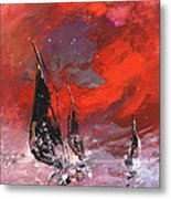 Windsurf Impression 02 Metal Print
