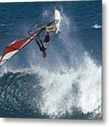 Windsurfer Hanging In Metal Print